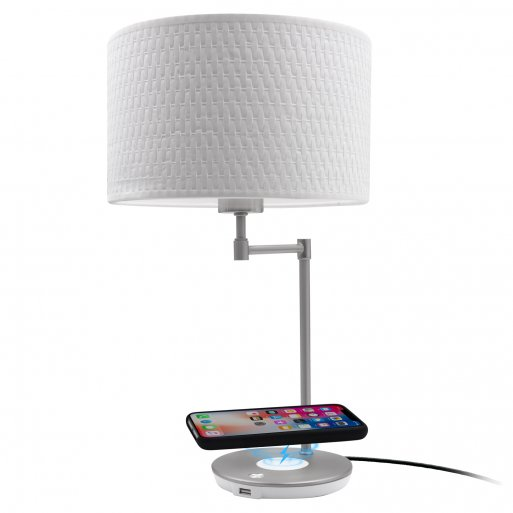 iPhone Ladestation Macally LampchargeQI - Weiss