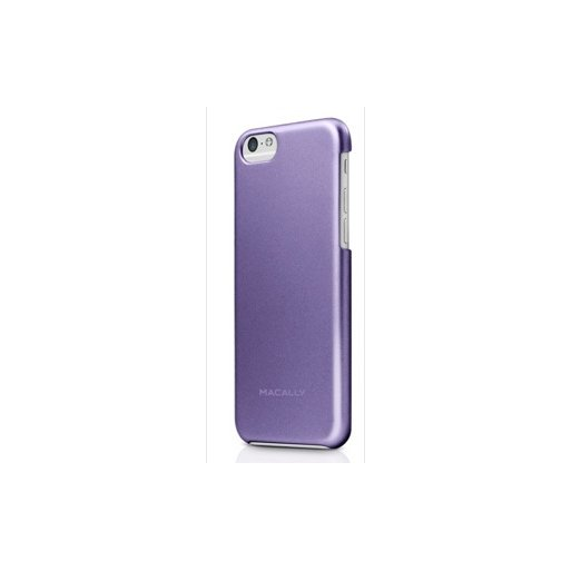 iPhone 6S Handyhülle Macally Metallic Snap-on Case mit softtouch und antirutsch Beschichtung für iPhone 6/6S (4.7) - Purple