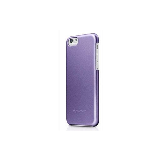 iPhone 6 Handyhülle Macally Metallic Snap-on Case mit softtouch und antirutsch Beschichtung für iPhone 6/6S (4.7) - Purple
