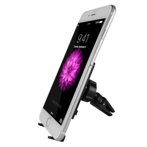 iPhone Autohalterung Macally MVENTMAG magnetische Autohalterung - Schwarz