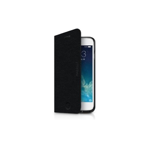 iPhone 6S Handyhülle Macally Slim Folio Case mit Standfunktion für iPhone 6/6S (4.7) - Schwarz
