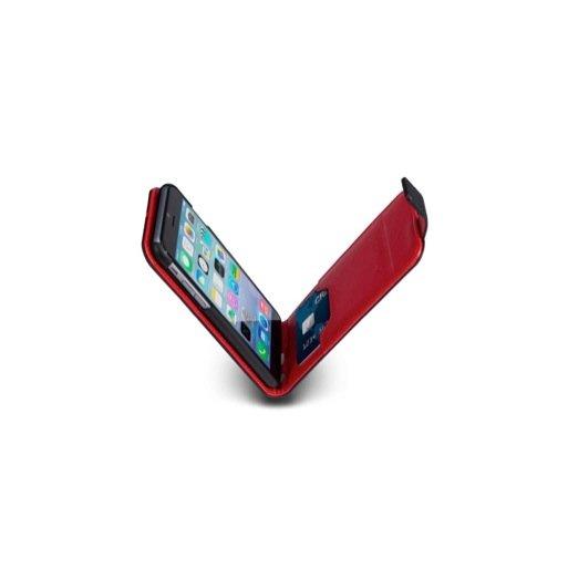 iPhone 6S Handyhülle MarBlue Flip · Hochwertiges Lederfolio mit Kreditkartenfach und Magnetverschluss für iPhone 6/6S (4.7'') - Schwarz