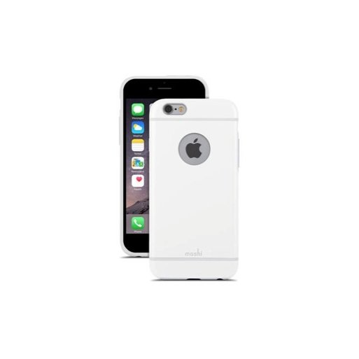 iPhone 6S Handyhülle Moshi iGlaze edles Hardcase für iPhone 6/6S (4.7) - Weiss