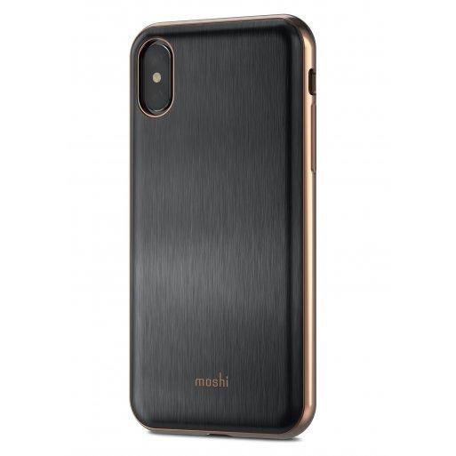 iPhone X Handyhülle Moshi iGlaze - Schwarz