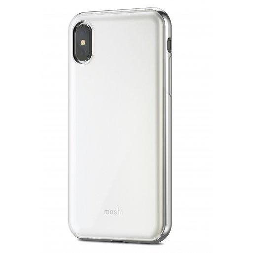 iPhone X Handyhülle Moshi iGlaze - Weiss