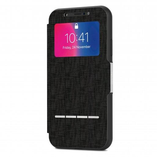 iPhone X Handyhülle Moshi SenseCover - Schwarz