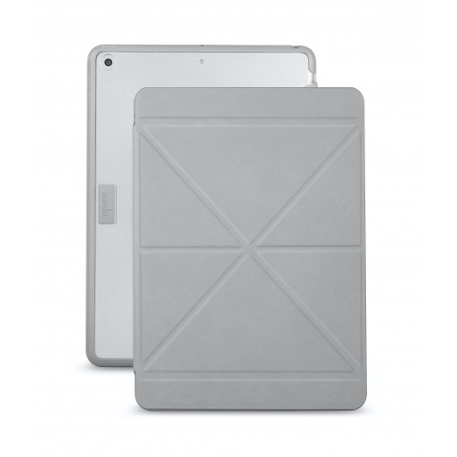 iPad 9.7 (2017) Hülle Moshi VersaCover hochwertiges Case - Grau