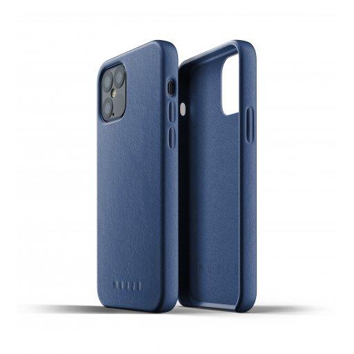 iPhone 12 Pro Handyhülle Mujjo Full Leather Case - Blau