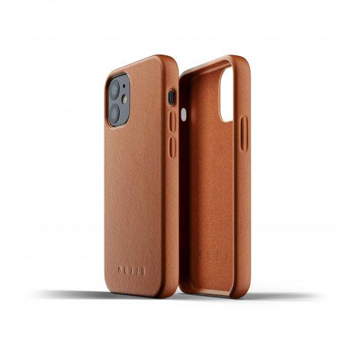 iPhone 12 mini Handyhülle Mujjo Full Leather Case - Braun