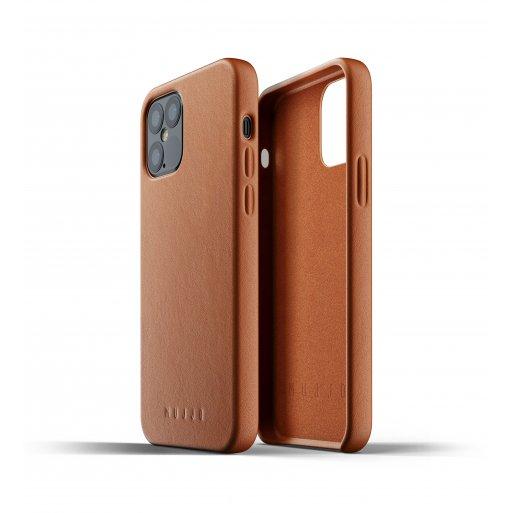 iPhone 12 Pro Handyhülle Mujjo Full Leather Case - Braun