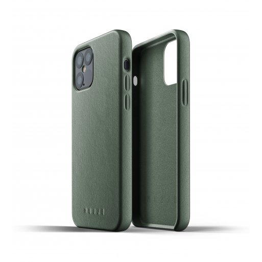 iPhone 12 Pro Handyhülle Mujjo Full Leather Case - Grün