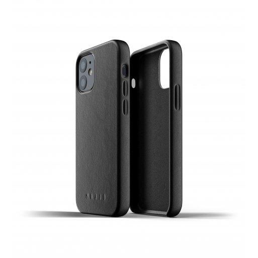 iPhone 12 mini Handyhülle Mujjo Full Leather Case - Schwarz