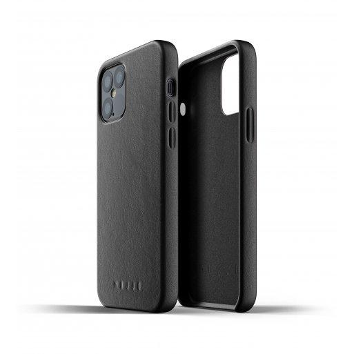 iPhone 12 Pro Handyhülle Mujjo Full Leather Case - Schwarz