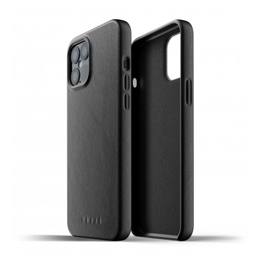 iPhone 12 Pro Max Handyhülle Mujjo Full Leather Case - Schwarz
