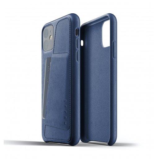 iPhone 11 Handyhülle Mujjo Full Leather Wallet Case - Blau