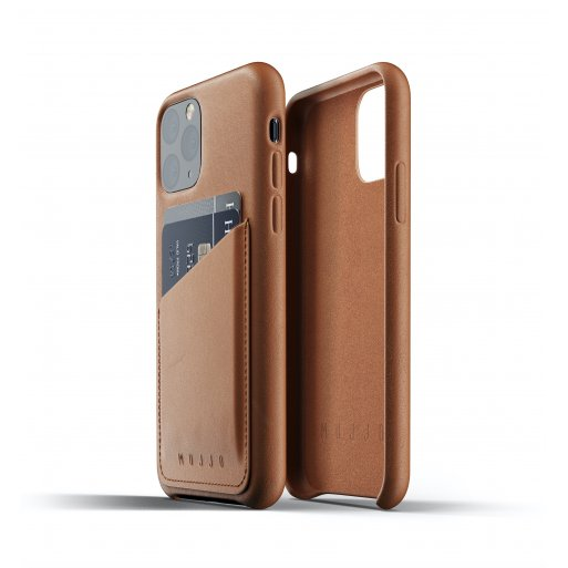 iPhone 11 Pro Handyhülle Mujjo Full Leather Wallet Case - Braun