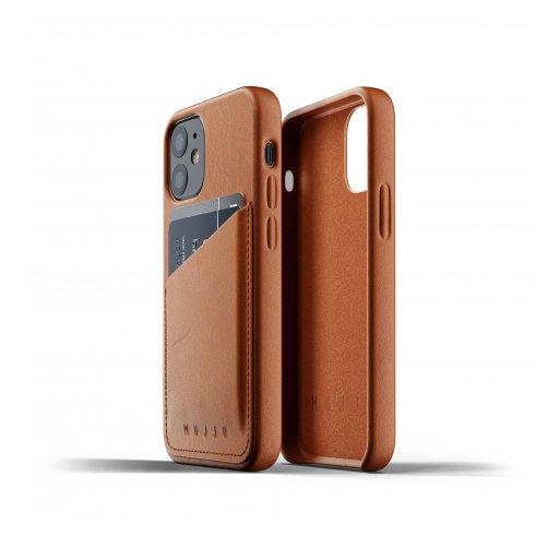 iPhone 12 mini Handyhülle Mujjo Full Leather Wallet Case - Braun