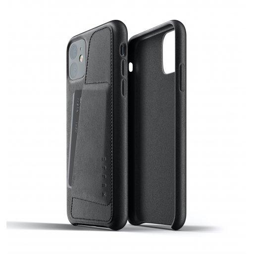iPhone 11 Handyhülle Mujjo Full Leather Wallet Case - Schwarz