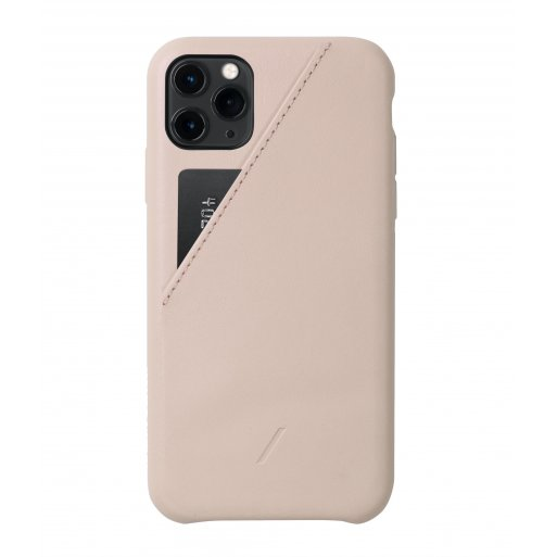 iPhone 11 Pro Max Handyhülle Native Union Clic Card - Rosa