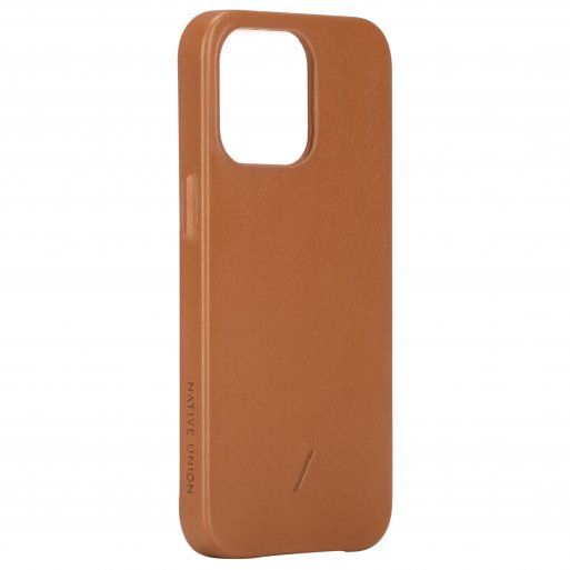 iPhone 13 Pro Max Handyhülle Native Union Clic Classic Magnetic - Braun