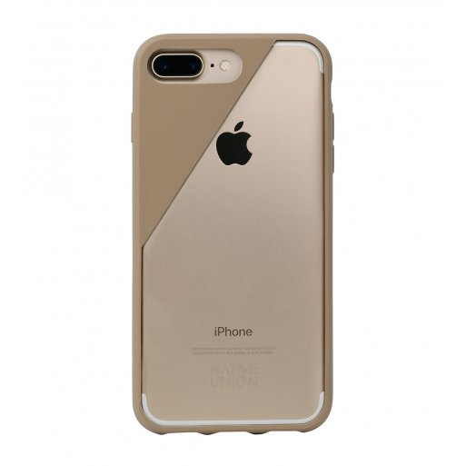 iPhone 7 Plus Handyhülle Native Union Clic Crystal Hardcase für iPhone 7 Plus & 8 Plus (5.5'') - Hellbraun