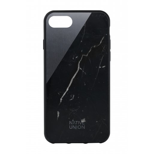 iPhone 8 Handyhülle Native Union Clic Marble - Schwarz