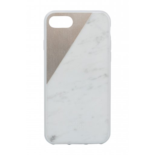 iPhone SE 2 (2020) Handyhülle Native Union Clic Marble - Weiss