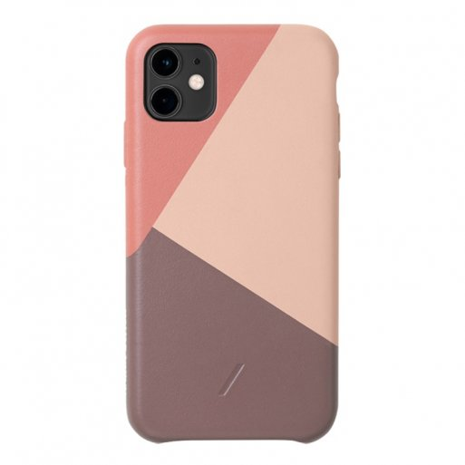 iPhone 11 Handyhülle Native Union Clic Marquetry - Rosa