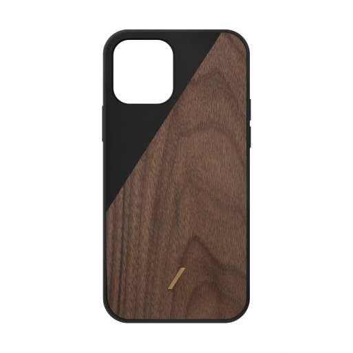 iPhone 12 Pro Max Handyhülle Native Union Clic Wooden - Schwarz