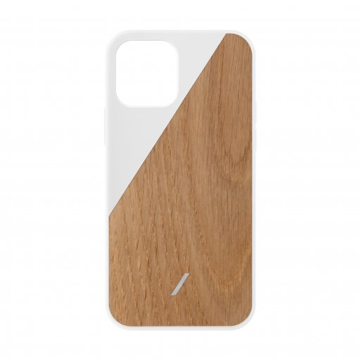 iPhone 12 Pro Max Handyhülle Native Union Clic Wooden - Weiss