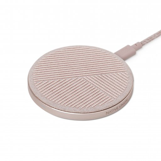 iPhone Ladestation Native Union Drop Wireless Charger - Rosa