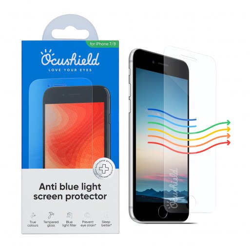iPhone Schutzfolie Ocushield Anti Blue Light Screen Protector - Transparent