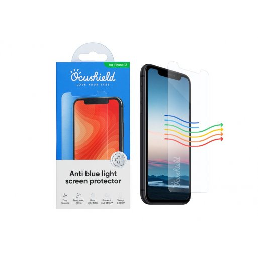 iPhone 12 Pro Max Schutzfolie Ocushield Anti Blue Light Screen Protector - Transparent