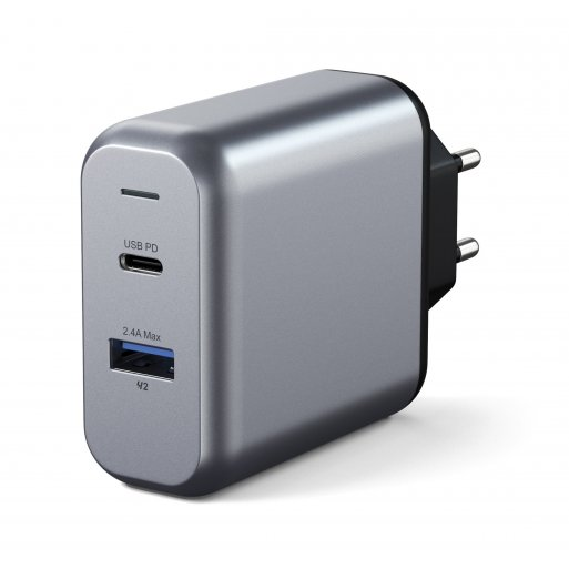 Apple Watch Ladegerät Satechi 30W Dual-Port Wall Charger - Space Gray