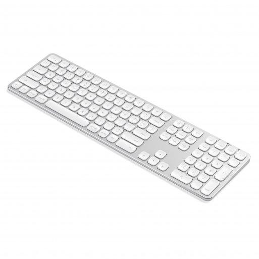 iPhone Tastatur Satechi Multisync BT Alu Keyboard (Mac) - Silber