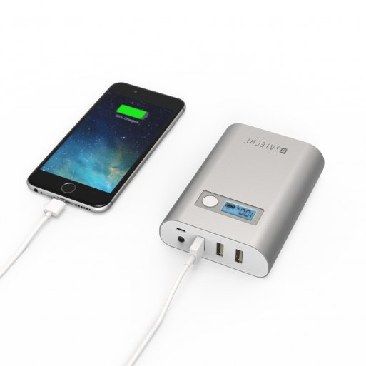 iPhone Powerbank Satechi Powerbank SX10 mit 10'000mAh - Silber