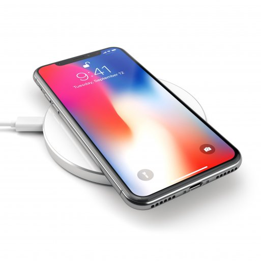 iPhone Ladestation Satechi Wireless Qi Charging Pad - Silber