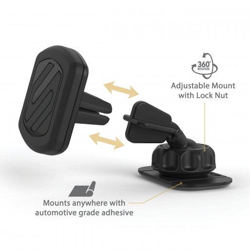 iPhone Autohalterung Scosche magicMOUNT Dash / Vent - Schwarz
