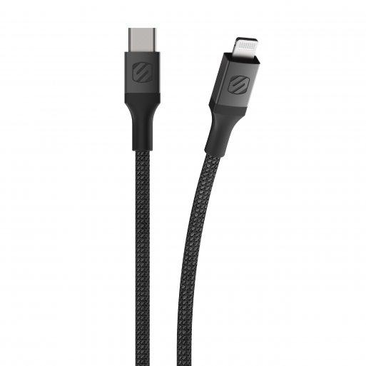 iPad Ladekabel Scosche Strikeline Premium USB-C zu Lightning Kabel 0.3m - Schwarz
