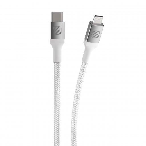 iPad Ladekabel Scosche Strikeline Premium USB-C zu Lightning Kabel 0.3m - Weiss