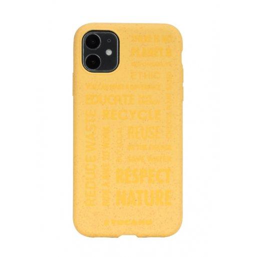 iPhone 11 Handyhülle Tucano Ecover Oeko Case - Gelb