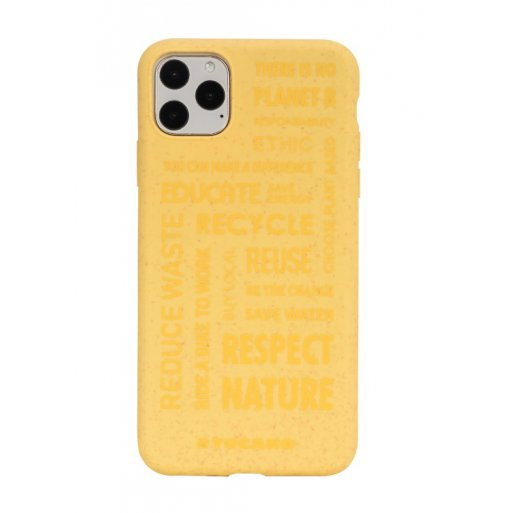 iPhone 11 Pro Max Handyhülle Tucano Ecover Oeko Case - Gelb