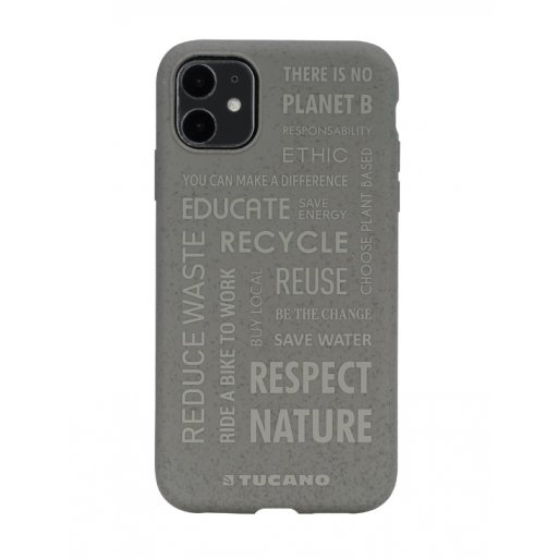 iPhone 11 Handyhülle Tucano Ecover Oeko Case - Grau