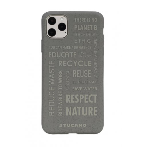 iPhone 11 Pro Max Handyhülle Tucano Ecover Oeko Case - Grau