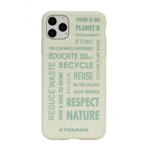 iPhone 11 Pro Max Handyhülle Tucano Ecover Oeko Case - Grün