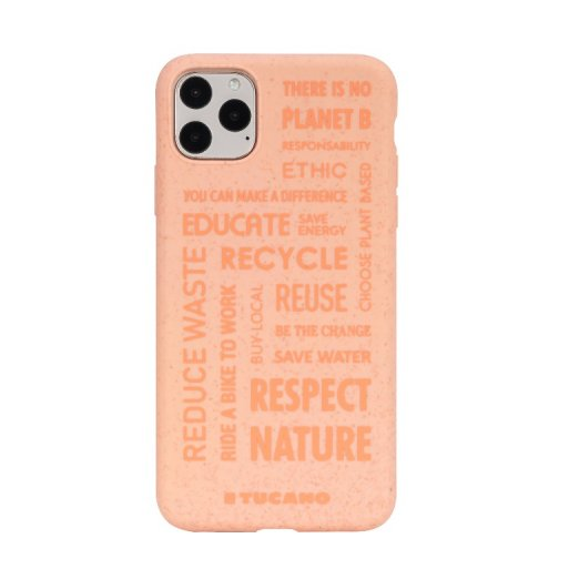 iPhone 11 Pro Max Handyhülle Tucano Ecover Oeko Case - Rot