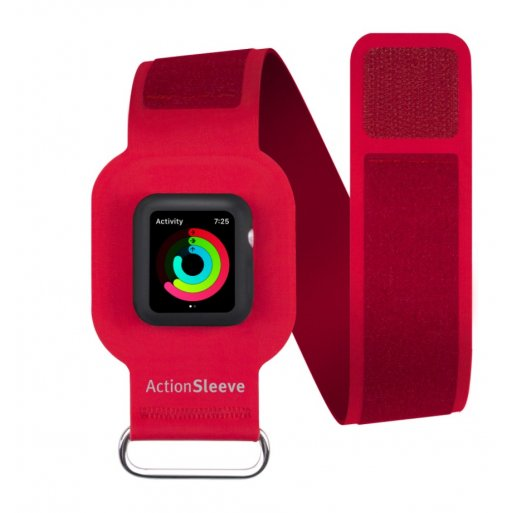 Apple Watch 3 38mm Case Twelve South ActionSleeve Armband 38mm - Rot