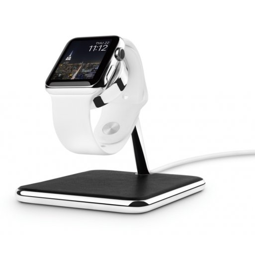 Apple Watch Ladestation Twelve South Forté für Apple Watch - Schwarz-Silber
