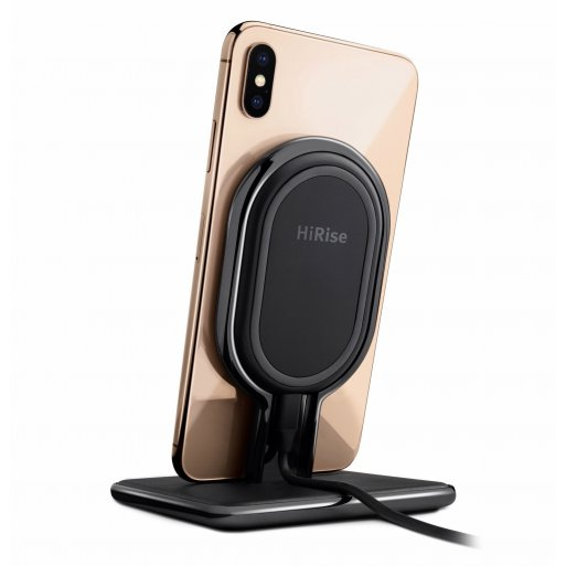 iPhone Ladestation Twelve South HiRise Wireless 2-1 Desktop Charger - Schwarz