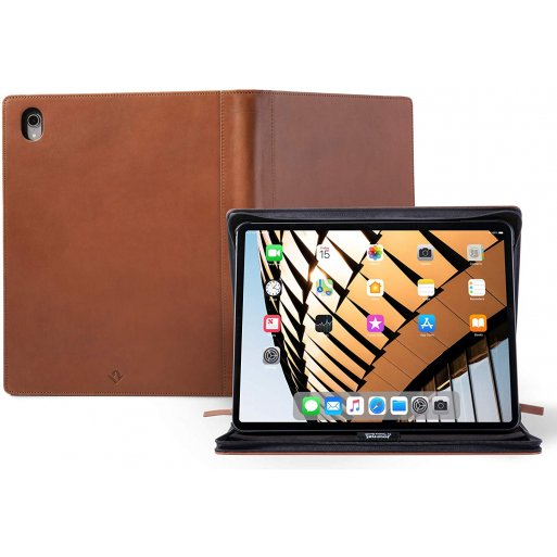 iPad Pro 11 (2018) Hülle Twelve South Journal Case - Braun
